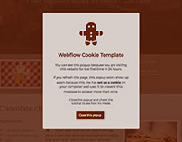 Webflow Cookie Template