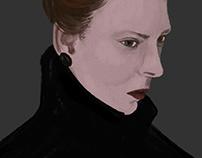 Woman in a black coat