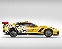 Chevrolet Corvette C7R Mockup