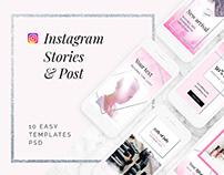 BEAUTY - social media templates, instagram post+stories