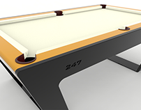 247 Billiards Table - Digital Solid Modeling