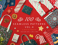 100 Seamless Patterns Vol.4 Christmas