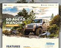 Jeep Wrangler Landing Page