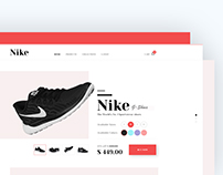 Product Showcase Header Design UI/UX