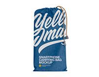 Denim Smartphone Carrying Bag Mockup