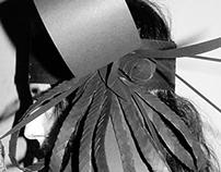 FLAPPER cardboard head dress