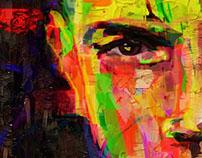 Amr Diab's Portrait Painting