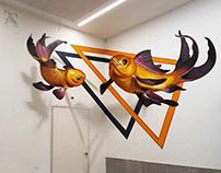3DWall Art Mural Painting Fish