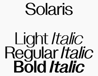 Solaris Typeface