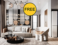 FREE 3D Model Livingroom 422