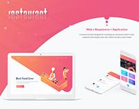 Restaurant website with IOS app