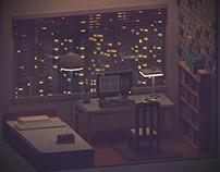 The quiet room - Voxel art