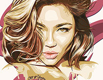 MİCHELLE LOU LAN PORTRAIT ILLUSTRATION
