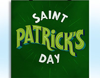saint patrick's day digital lettering
