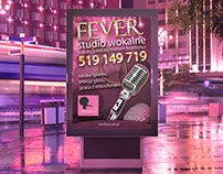 Fever Vocal Studio | Logo & poster design