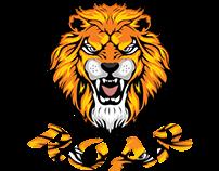 Roaring Tiger Face Illustration
