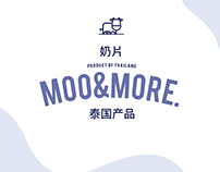MOO&MORE Milk Tablet Logo & Package Design