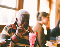 Milkshake with Dr Peter Magubane, for Notedman.