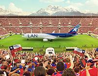 Lan / Tam Copa América 2015 Agency: Cabeza ( Chile )