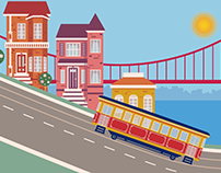 Motion Graphics - Trolley Animation