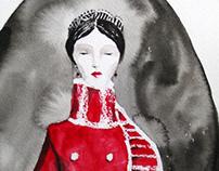 Anna Karenina - sketches for a book cover