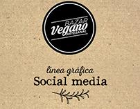 linea grafica social media Bazar Vegano