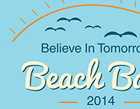 Believe In Tomorrow Beach Bash 2014 T-shirt art