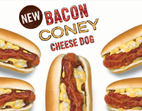 A&W Bacon Coney Cheese Dog