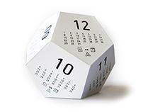 "d12 calendar ""Dicecal"""