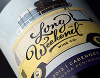 Long Weekend Wine Label and Packaging Design