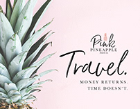 Pink Pineapple Logo Design