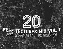 20 Free Textures (JPEG, PNG & PS Brushes)