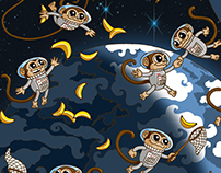Space Monkeys Go Bananas!