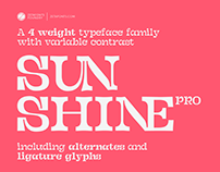 Sunshine Pro - A FREE variable font family!