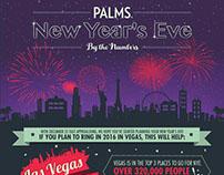 PALMS Las Vegas Casino | NYE Infographic