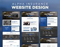 Website Design - Alpha Insurance
