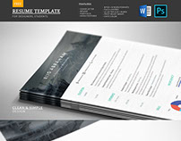 Modern Free Resume Template | PSD & WORD