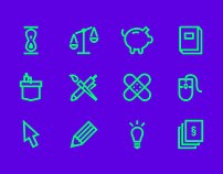 Free icon set from conference Element Talks