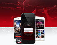 WWE Mobile App Concept & Case Study