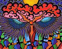 Titre de l'œuvre d'art : Nuit colorée.