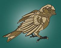 Steampunk Bird Illustration