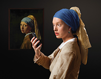 Famous Paintings As Conceptual Photography