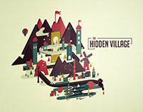 The Hidden Village - Landscape Digital Illustration