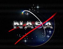 NASA retro-futuristic logo animation
