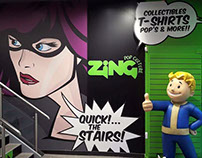 In-Store Signage - Zing Pop Culture