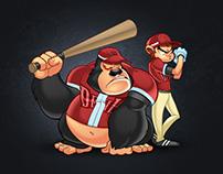 The Devil Baseball Team Mascot