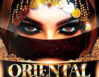 Oriental Party | Luxury Night Flyer PSD Template