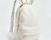 sarah jessica parker cozy rabbit backpack, accessory