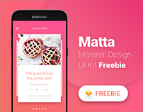 Matta - Material Design Mobile UI Kit - Freebie