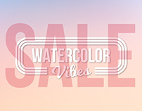 Watercolor Vibes. SALE